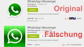 Gefälschte Apps im Umlauf