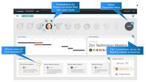 IBM Mail Next Benutzeroberfläche