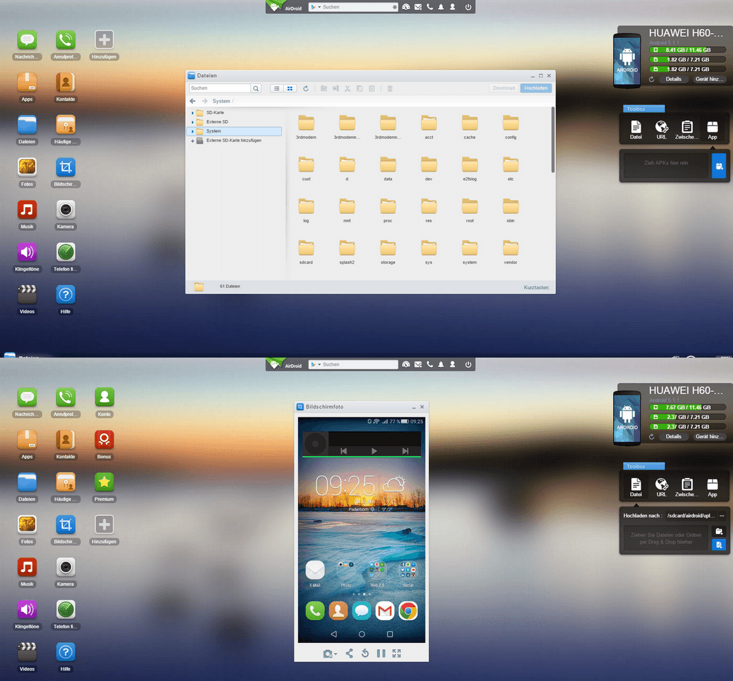 Kabelloses Gerätemanagement im Browser