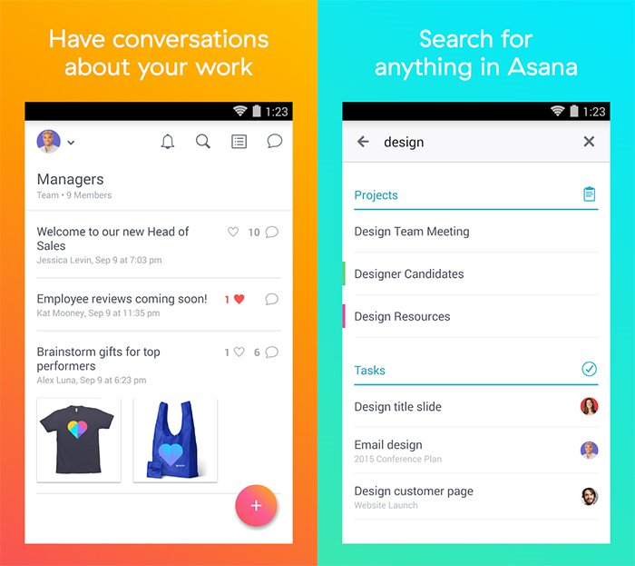 Projektmanagement App Asana