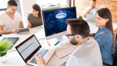 Collaboration, Laptops, Sicherheit, Collaboration-Plattforms